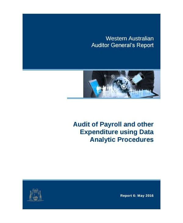 data analytics audit report template