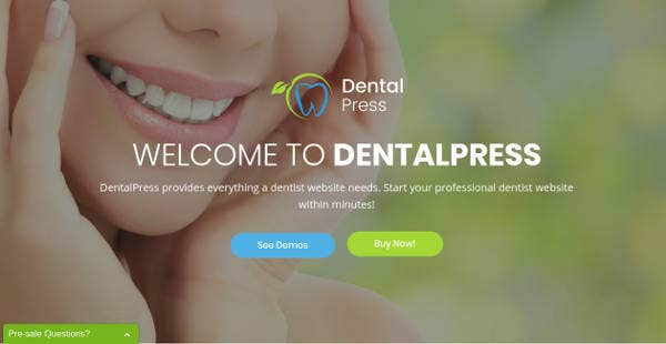Dental Press Clinic Website Template