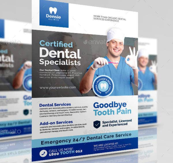 Dental Services Clinic Flyer Template