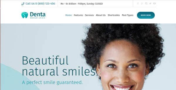 Dentla Clinic Website Theme