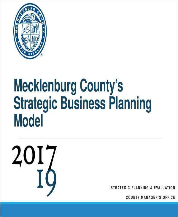 department strategic business planning sample