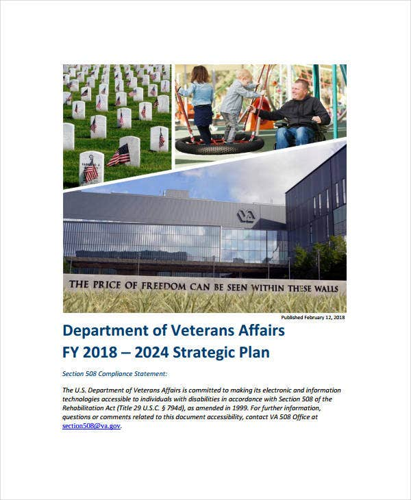 department of veterans affairs strategic plan