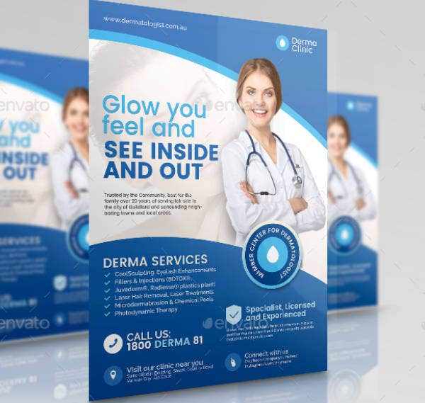Dermatologist Clinic Promotional Flyer