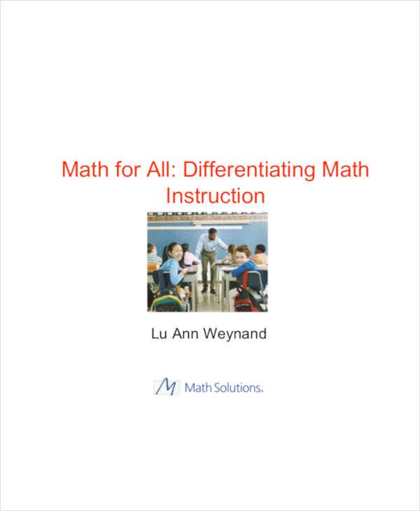 differentiated instruction math lesson plans template pdf format