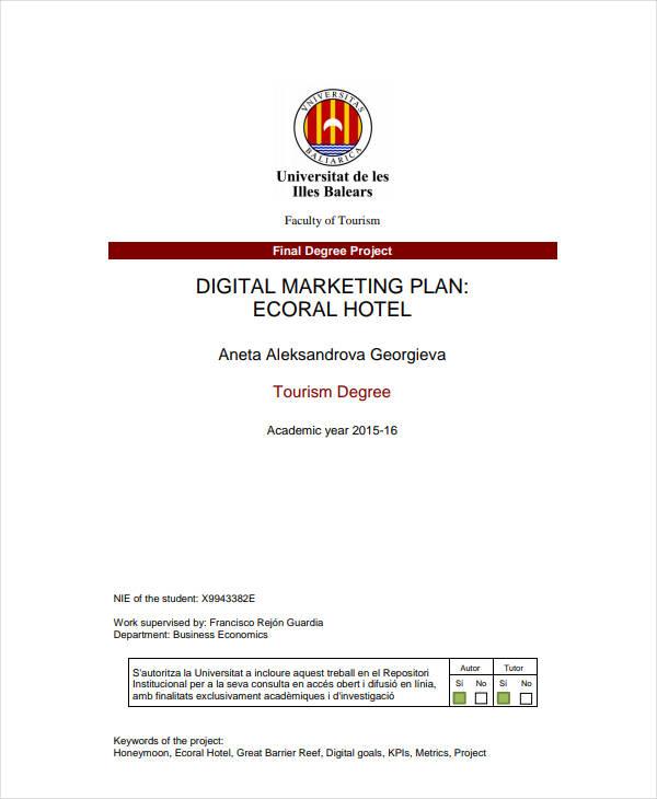 digital hotel marketing plan1