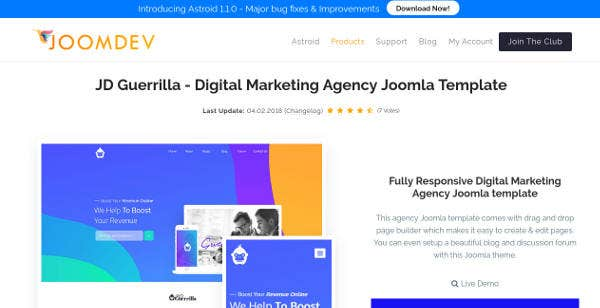 digital marketing agency joomla template1