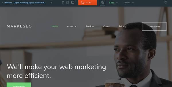 digital marketing agency premium moto cms 3