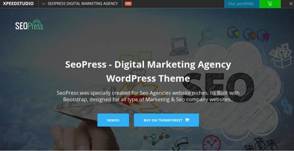 digital marketing agency wordpress theme