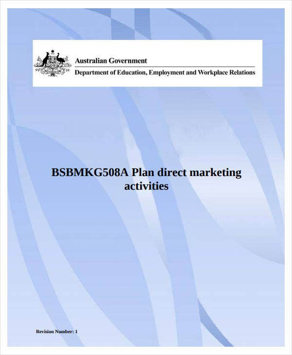 direct marketing plan activities