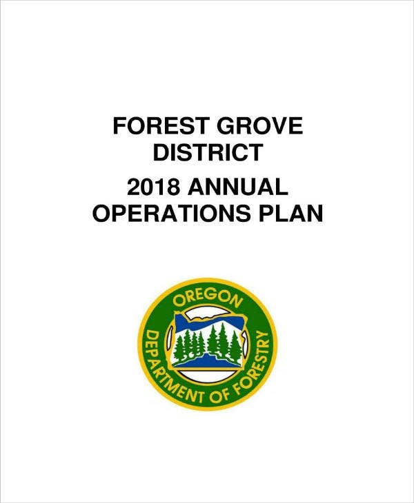 district annual operations plan