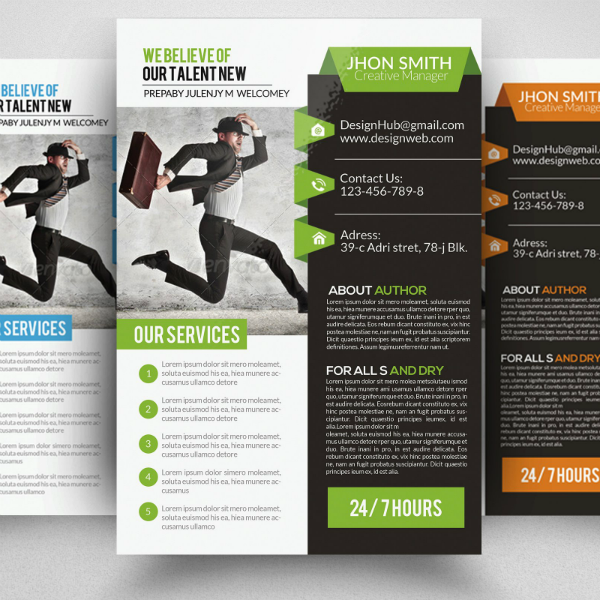 Dual Tone Corporate Strategy Flyer Template