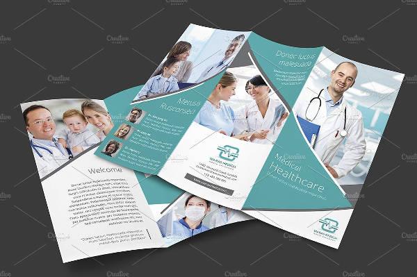 Editable Medical Tri-Fold Brochure Template
