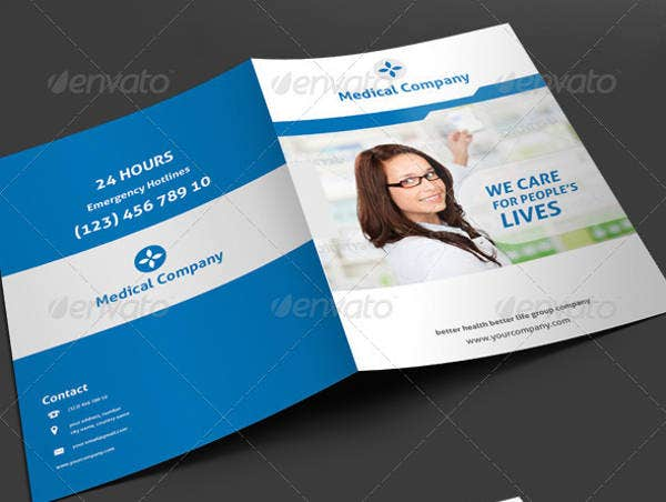 Editable Waves Medical Brochure Template