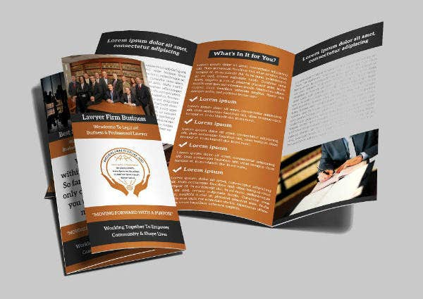 Elegant Attorney Trifold Brochure Template