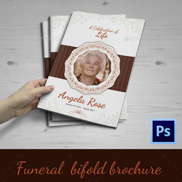 Elegant Bi-Fold Funeral Service Brochure