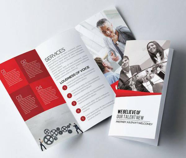 elegant job agency brochure template