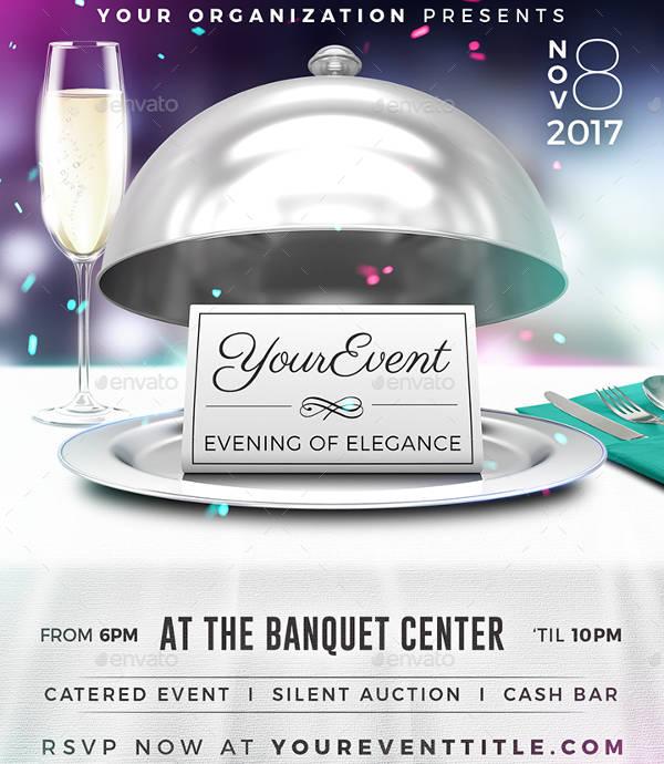 Elegant Restaurant Event Flyer