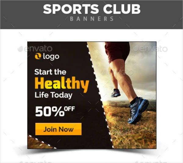Elegant Sports Banner Example