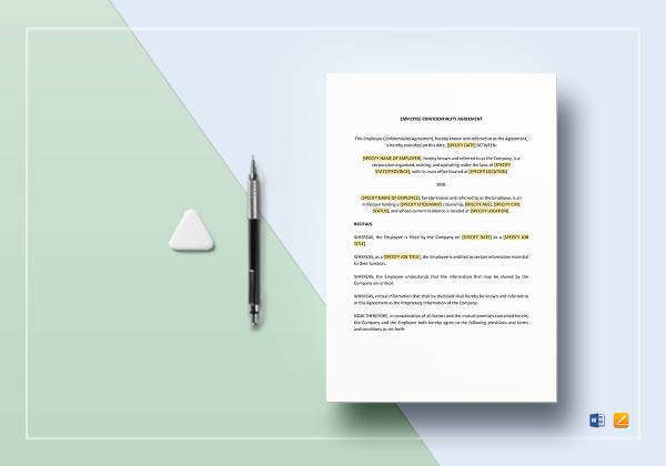 employee confidentiality agreement template3