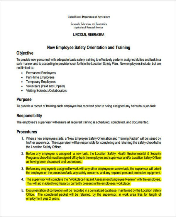 employee training action plan