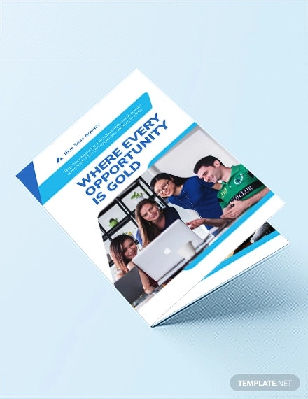 employment agency bi fold brochure template