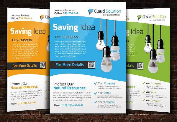 energy saver flyer template1