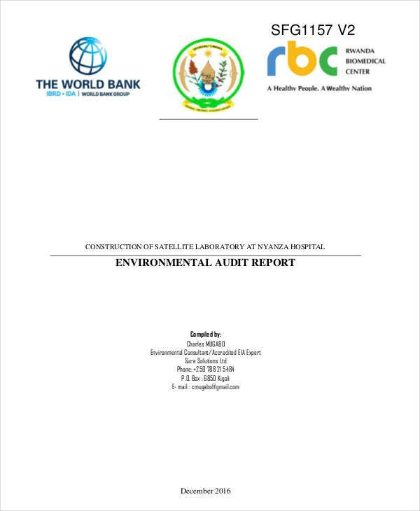 environmental laboratory audit report