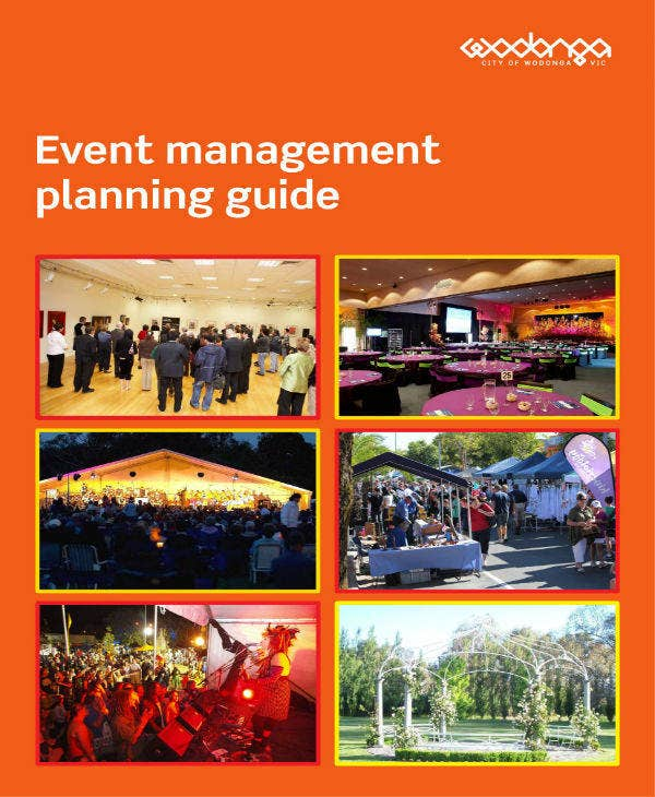 event management planning sample