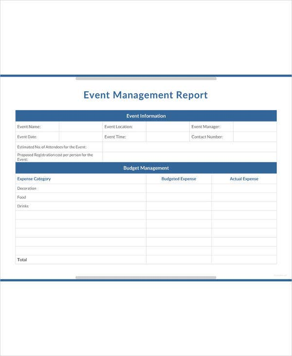 event management report template1