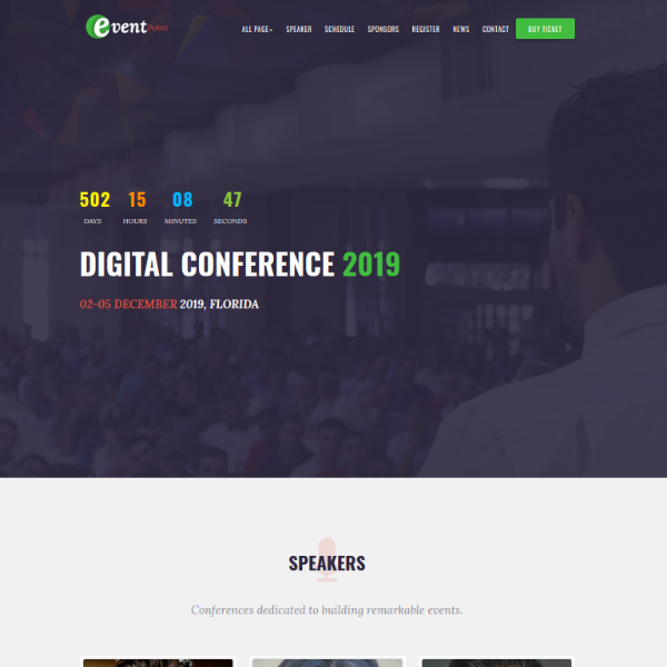 eventpoint conference website template