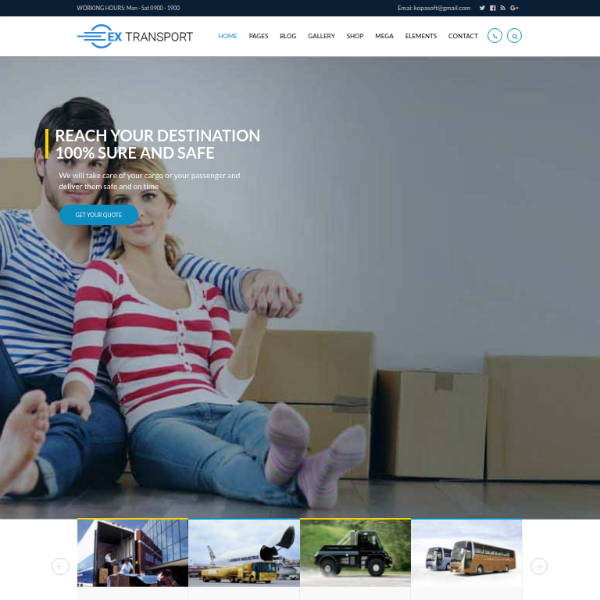ExTransport Trucking Logistics Website Template