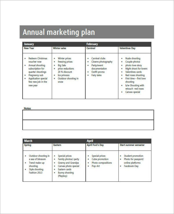 example of annual marketing plan1