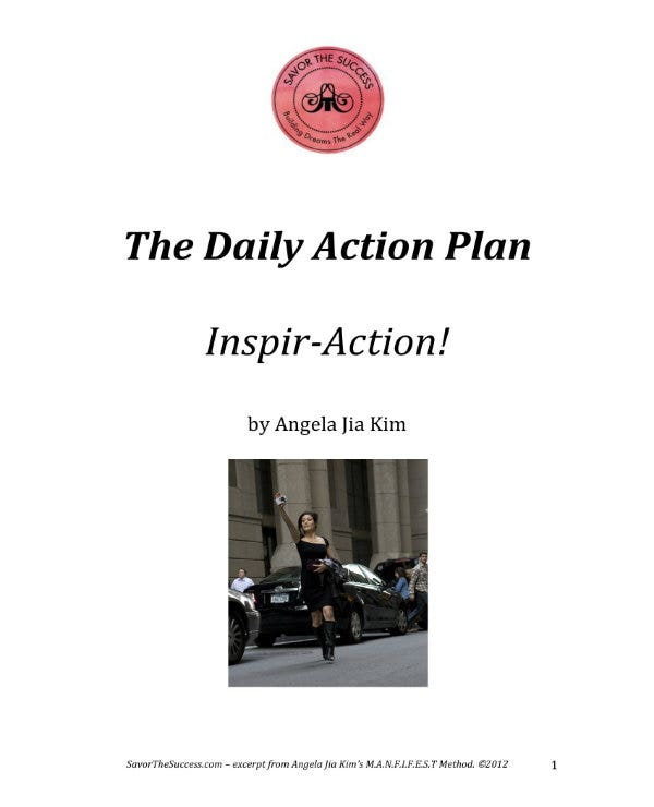 example of daily action plan 1
