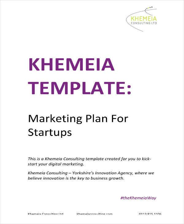 Example of Marketing Startup Plan