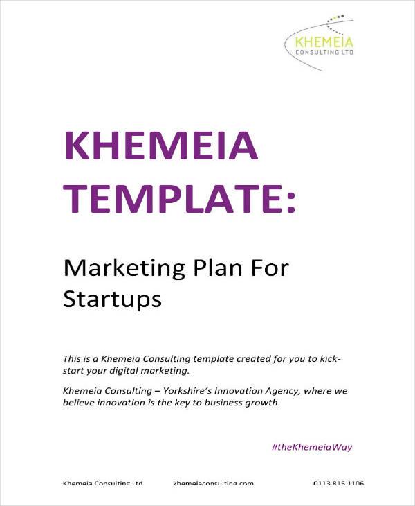 example of marketing startup plan
