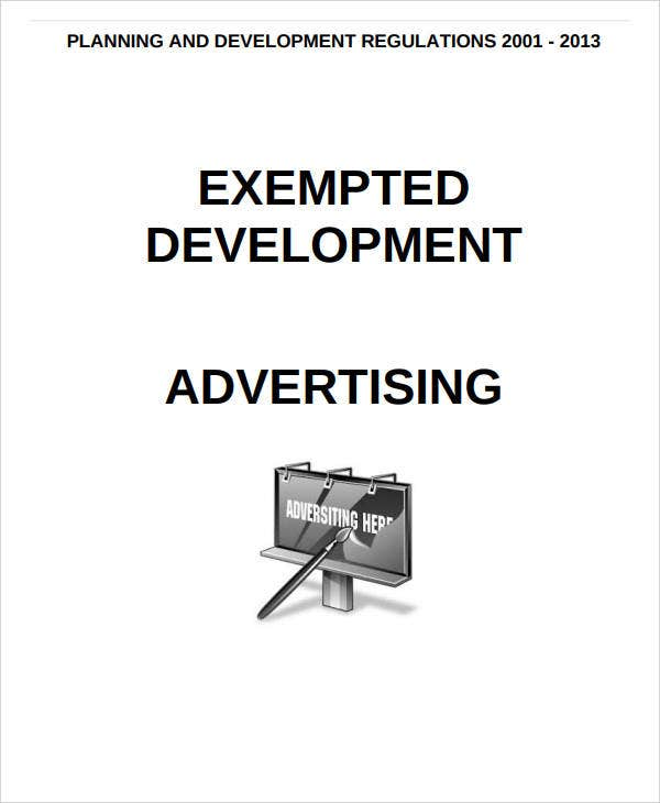 exempted hotel development advertising plan