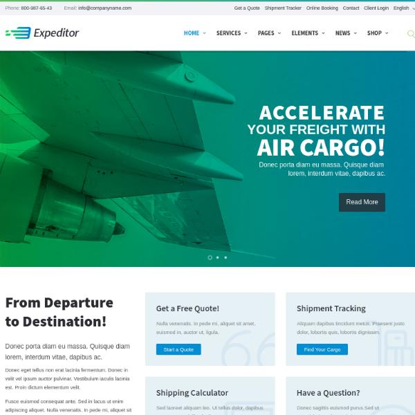 Expeditor Logistics Services Website Template