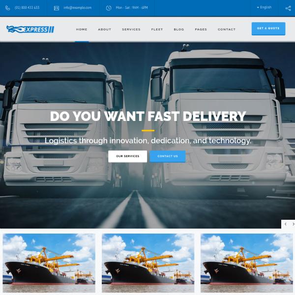 Express Logistics Responsive Website Template