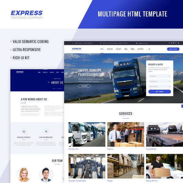 Express Trucking Logistics Website Template