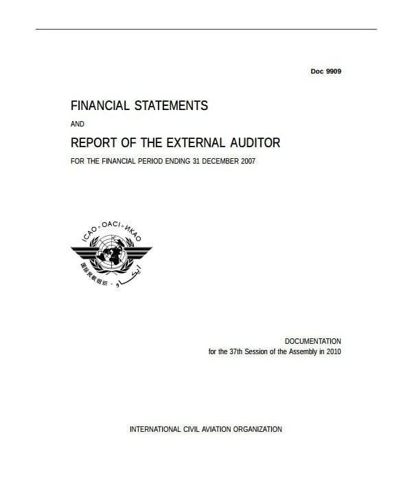 external financial audit report template