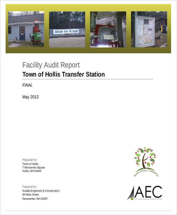facility system audit report