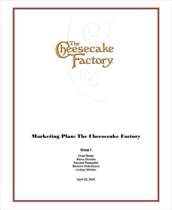 factory marketing plan sample
