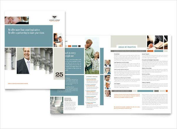 Family Attorneys Services Brochure Template