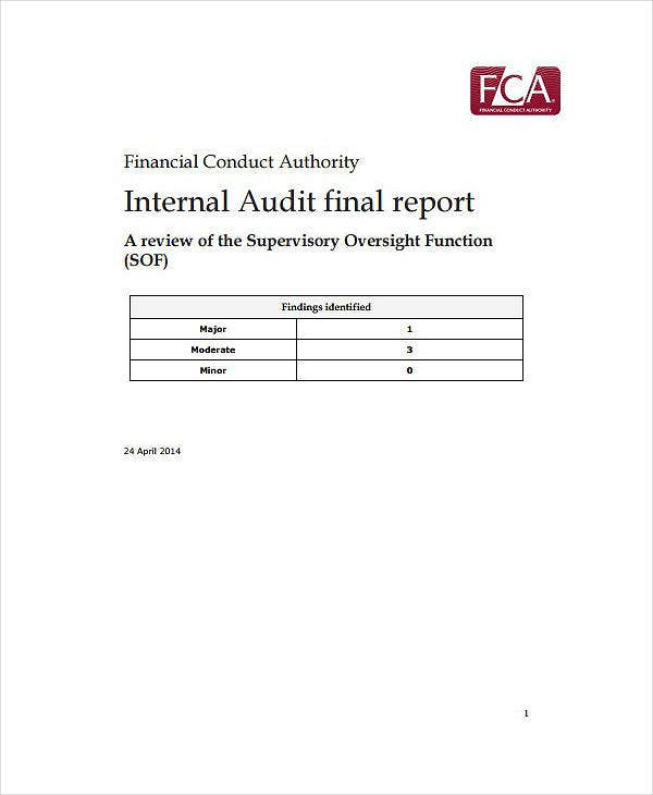 Final Internal Audit Report