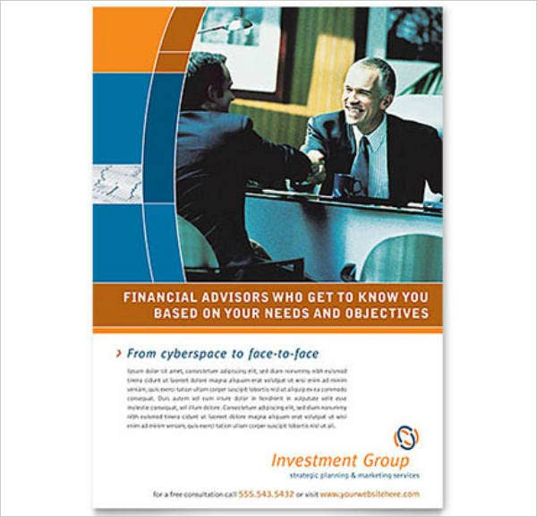 Financial Advisors Investment Management Flyer