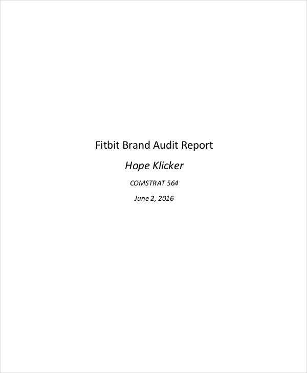 fitbit brand audit report