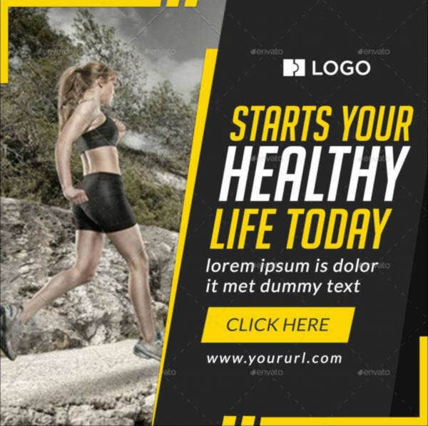 Fitness & Sports Banner Example