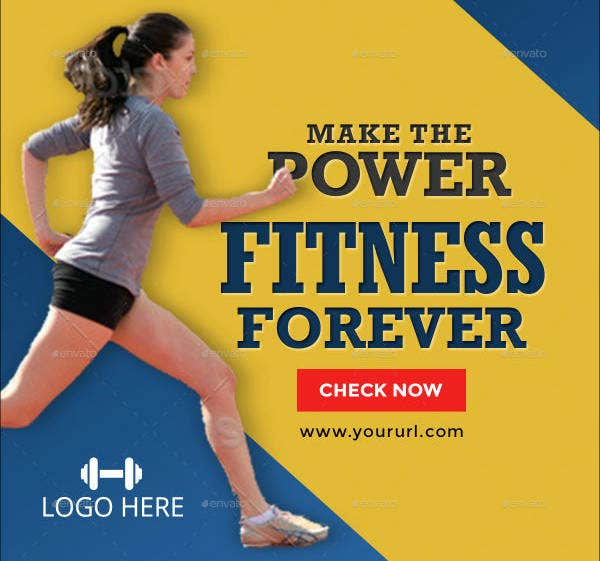 Fitness Sports Banner Template