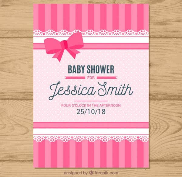 Flat Baby Shower Invitation