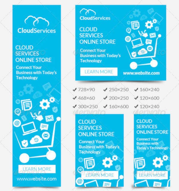 Flat Cloud Technology Banner Template